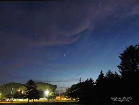 Bright Light In The Sky Tonight by Best Photos Venus And Jupiter West After Sunset Today