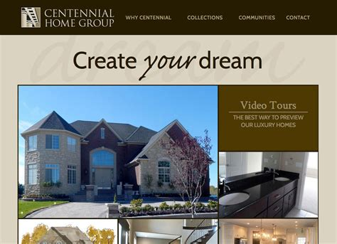 centennial home website refresh