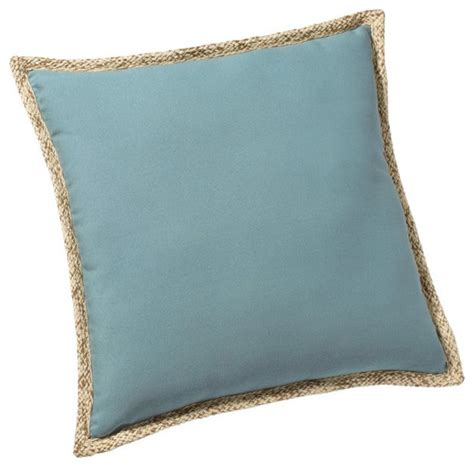 outdoor synthetic trim pillow fresca blue modern