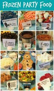 themed food disney frozen food menu