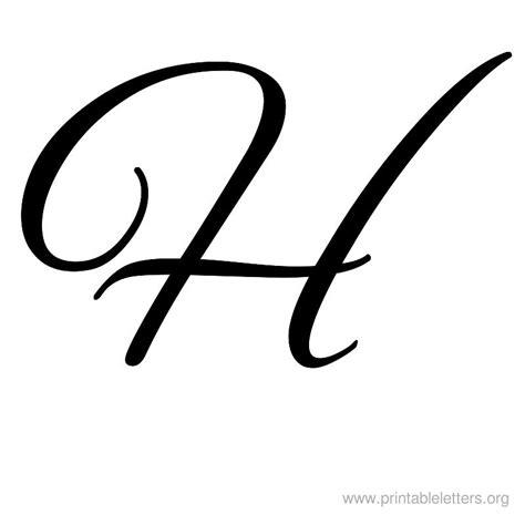 h h cursive bubble letter h letters