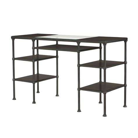 counter height steel desk 400 100 home office hammary