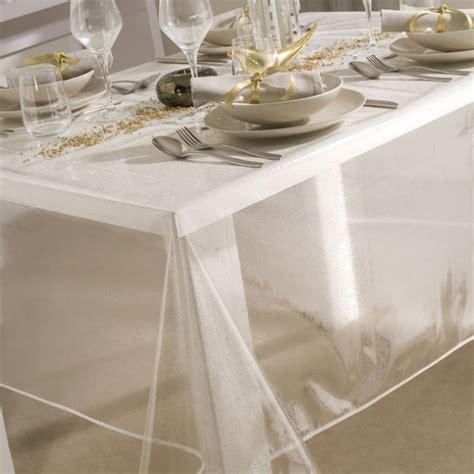 toile ciree transparente pour table ronde