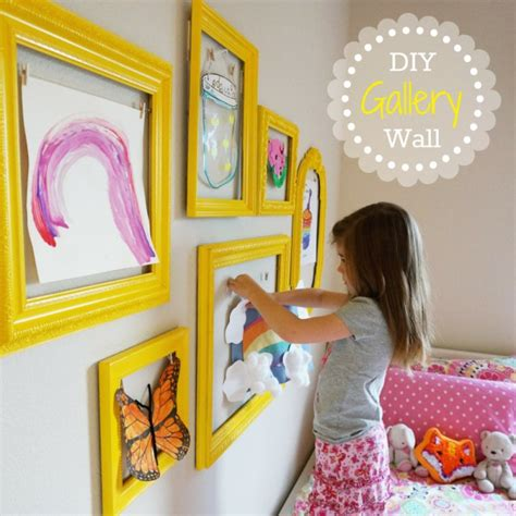 hanging kids artwork motivational monday 8 craft diy home decor link part
