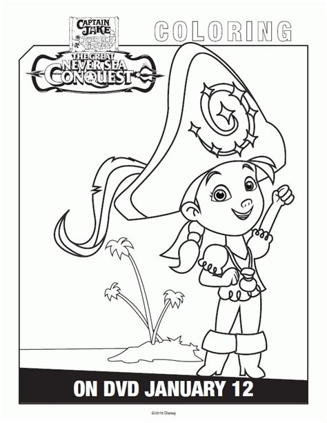 free printable coloring pages jake and the neverland pirates coloring pages for captain jake and the neverland pirates
