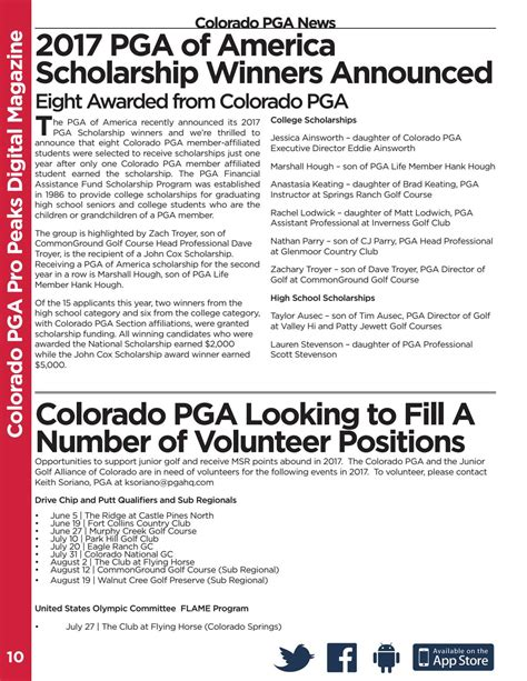 colorado pga section colorado pga june 2017 pro peaks digital magazine by