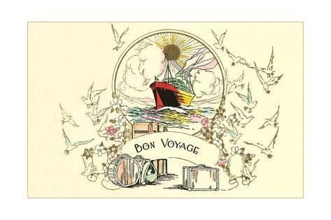 Frame Bon Voyage Uk 50x70cm bon voyage card posters allposters co uk