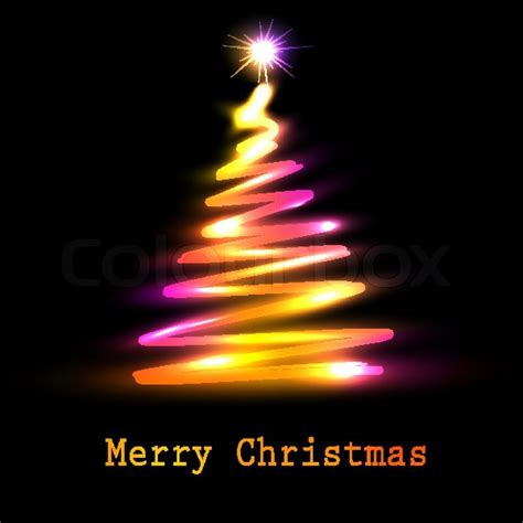 christmas tree greeting card vector eps10 illustration