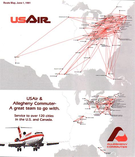 usair route map us airways route map images
