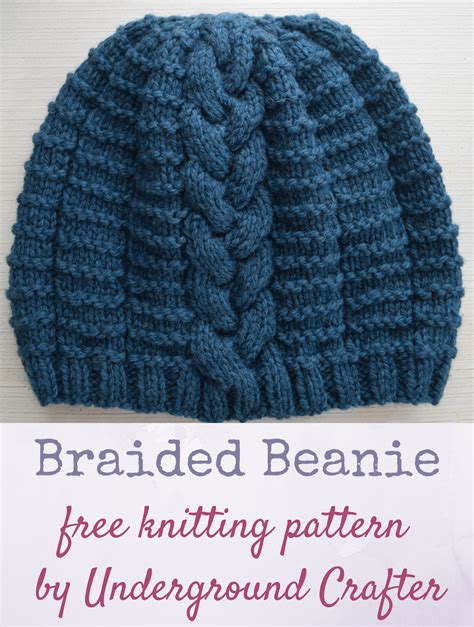 free beanie knitting pattern free knitting pattern braided beanie underground crafter