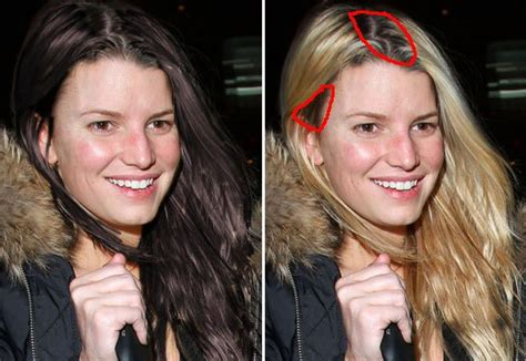 celebrity natural hair colors celebs who dye their locks pictures jessica simpson we wondered how you d look with your