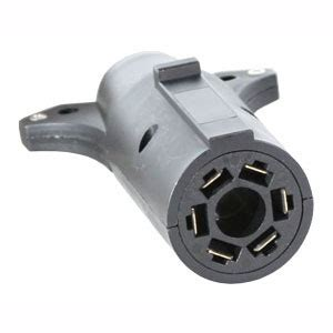 trailer connector adapter 7 pin flat to 6 pin round