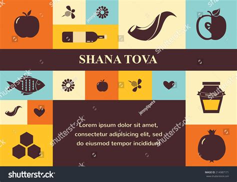 happy new year in hebrew shana tova set of new year icons happy shana tova happy new