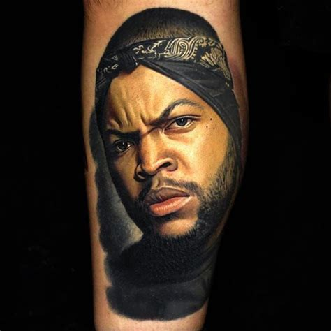 rapper with ice cream tattoo cube by nikko hurtado icecube icecubetattoo