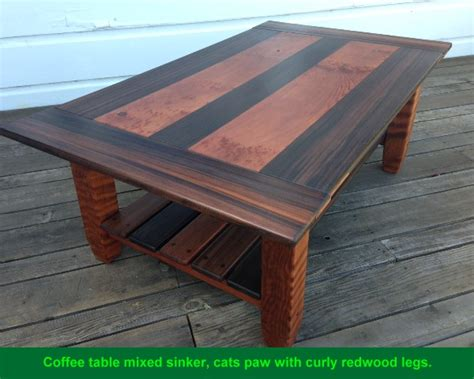 table top stock and leg stock from growth redwood lumber