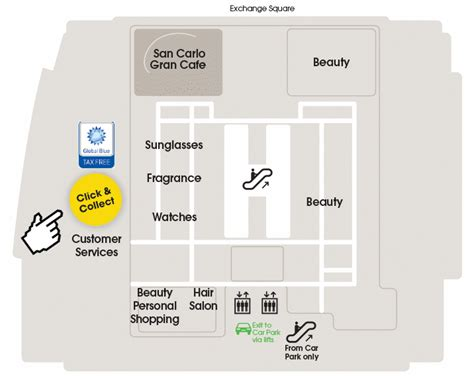 selfridges london floor plan click collect maps selfridges com