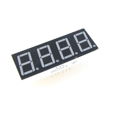 led display 7 segment 4 digit 0 36 inch common cathode white