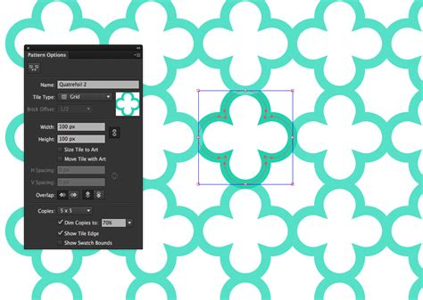 quatrefoil pattern illustrator create a seamless vector quatrefoil pattern in illustrator