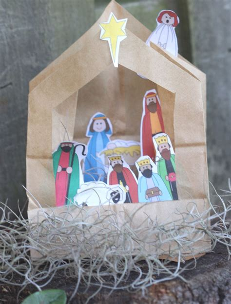 nativity craft projects paper bag turned nativity easy sunday school craft