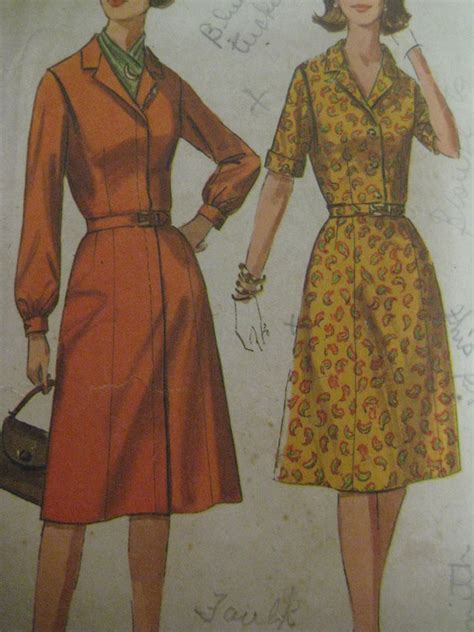 clothes pattern pieces vintage simplicity 6194 one piece dress w concealed