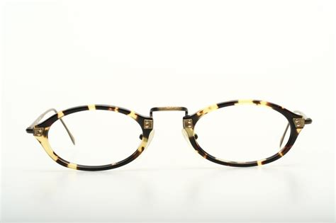 flat oval acetate combi eyeglasses by made in japan