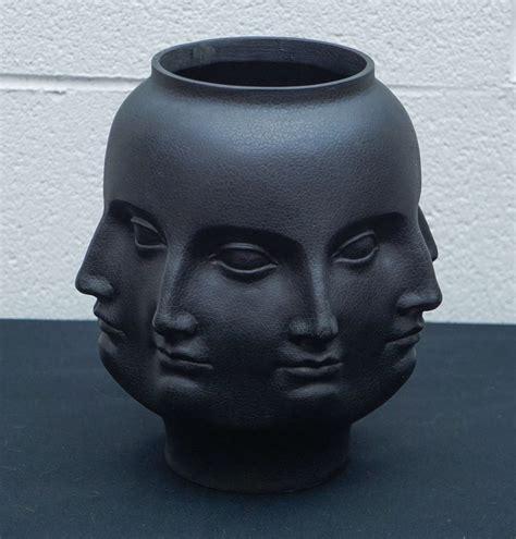 Vintage Brass Vase Dora Maar Vase In Black At 1stdibs