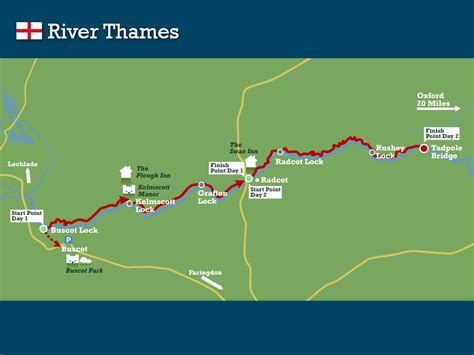thames river on a map river thames swimtrek