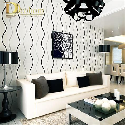 black and white wallpaper for walls simple modern 3d stereoscopic wall paper bedroom living