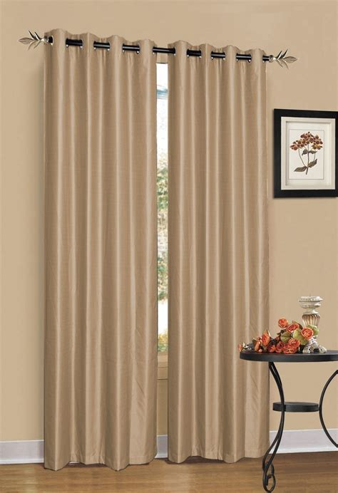 light brown curtains latte light brown blockout curtain 2 pack ebay