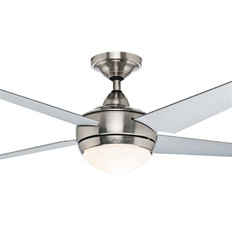 Hunter Sonic Ceiling Fan Hunter Sonic Ceiling Fan With Light Brushed Nickel