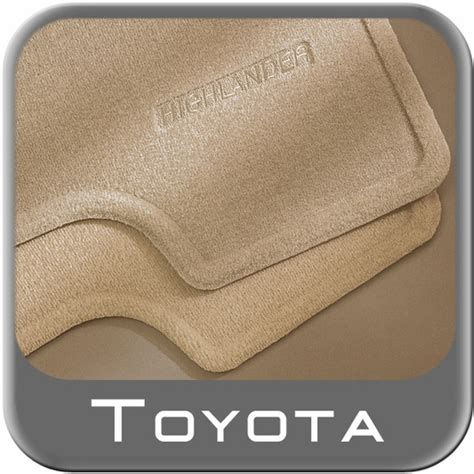 2005 Toyota Highlander Floor Mats by 2005 2007 Toyota Highlander Carpeted Floor Mats Ivory Oak