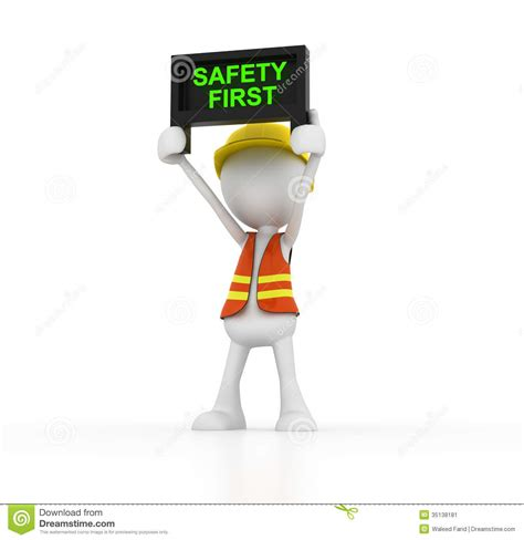 safety man clip art safety first stock image image 35138181