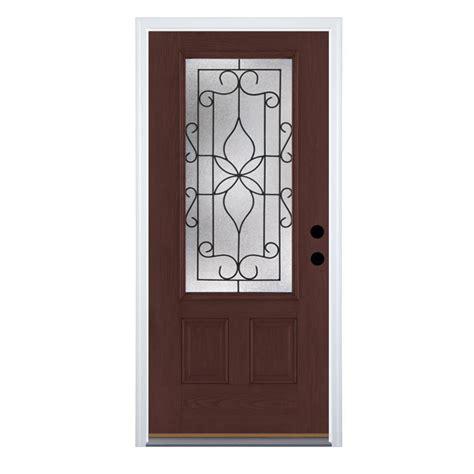 Therma Tru Fiberglass Doors by Shop Therma Tru Benchmark Doors Florentino 2 Panel