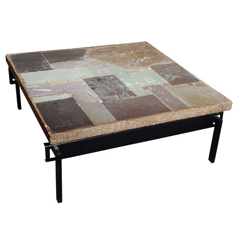 wonderful slate coffee table by paul kingma at 1stdibs