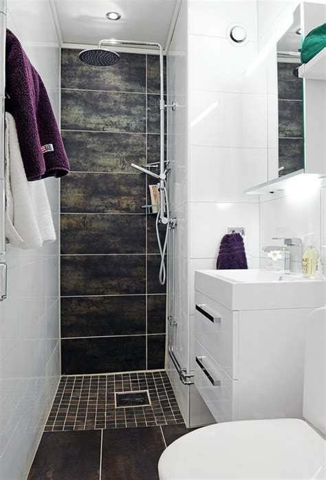 Formidable Plan Salle De Bain 4m2 #5: 00-salle-d-eau-3m2-carrelage-blan-et-gris-les-meilleures-idees-sol-en-mosaique-marron-fonc%C3%A9.jpg