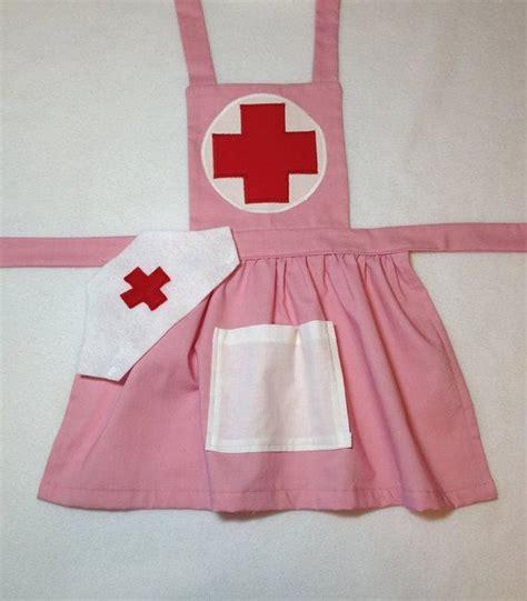 tutorial nursing apron pink child s nurse apron with hat dress up nurse costume