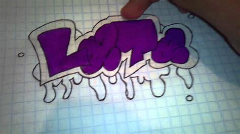 como hacer  graffiti facil  sencillo youtube