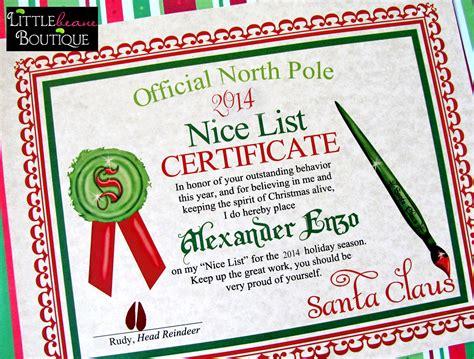 printable santa good list printable santa s nice list certificatediy santa