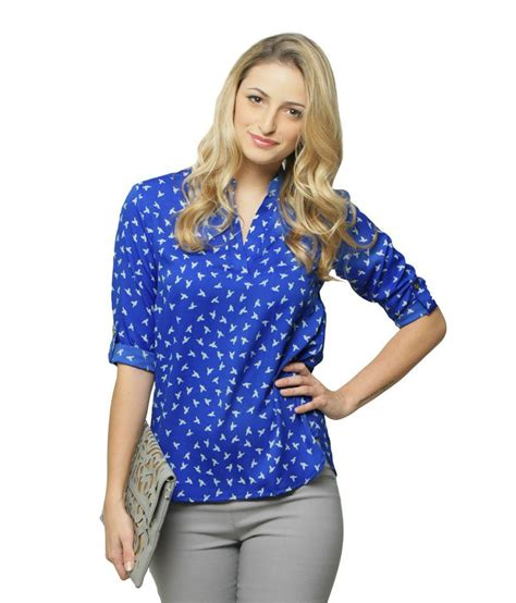 wildly misleadingdvd sleeves 1 miss chase blue animal print shirt tops for women quarter