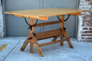 Drafting Table Vintage Vintage Articulated Oak And Maple Drafting Table By Hamilton At 1stdibs