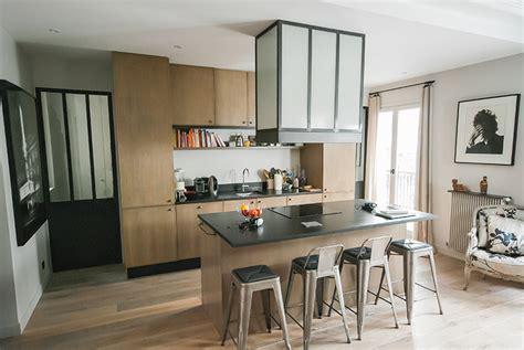 cuisine vitr馥 atelier awesome hotte dcorative en mtal et verre arm with cuisine