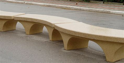 curved concrete benches curved outdoor bench and their