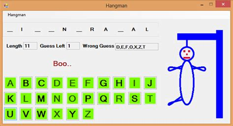 Hangman Game In C Codeproject Hangman Powerpoint