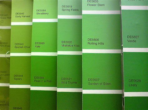 green paint swatches paint swatches flickr photo sharing