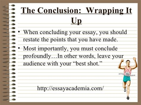 Wrapping Up An Essay by The Five Paragraph Essay