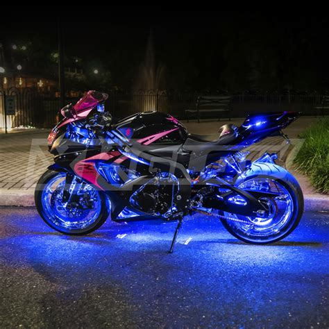 underglow lights for motorcycles ultra bright neon falcon led pink blue white red amber