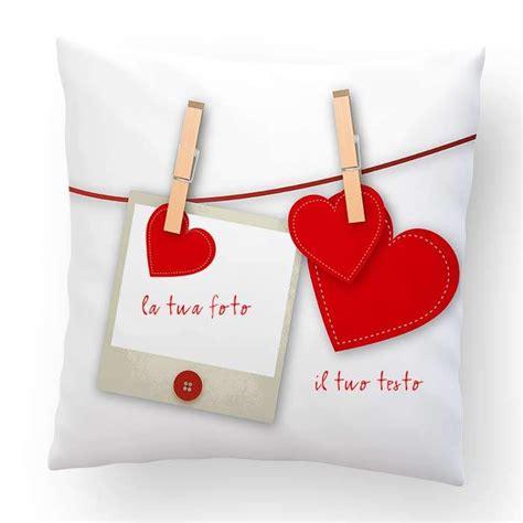 cuscino per san valentino cuscino san valentino con foto 40x40cm regali ste