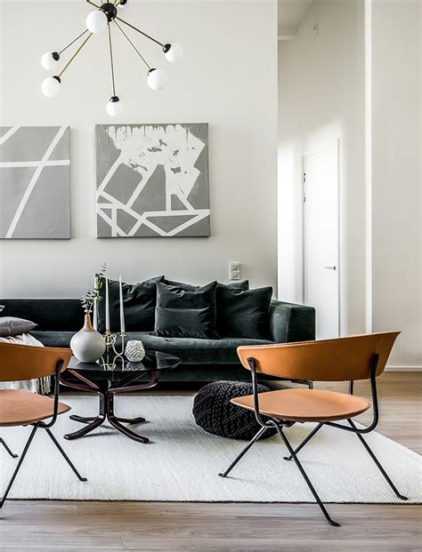 stuffed chairs living room chic scandinavian apartment in a former brewery digsdigs