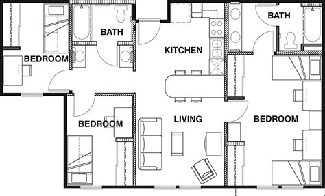 shared bathroom floor plans floor plans vista del co norte student apartments in