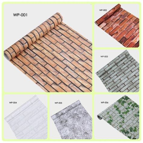 Promo Wallpaper Sticker 45cm X 10 Meter 1 brick wall style self adhesive wallp end 2 15 2018 1 15 pm
